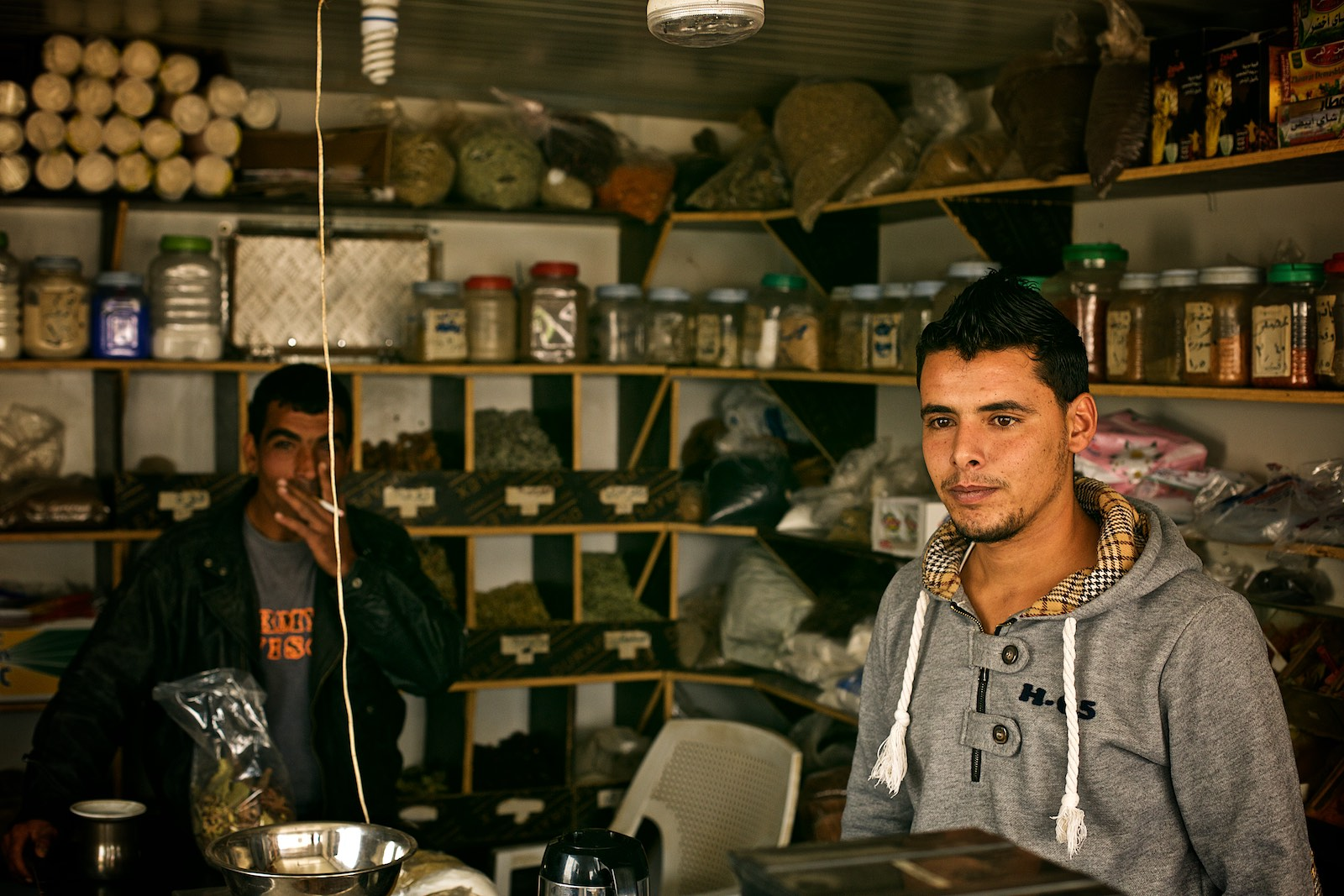 I met Abdullah in a shop where his cousin works as a shop assistant selling spices and herbs.(photo: Denis Bosnic)