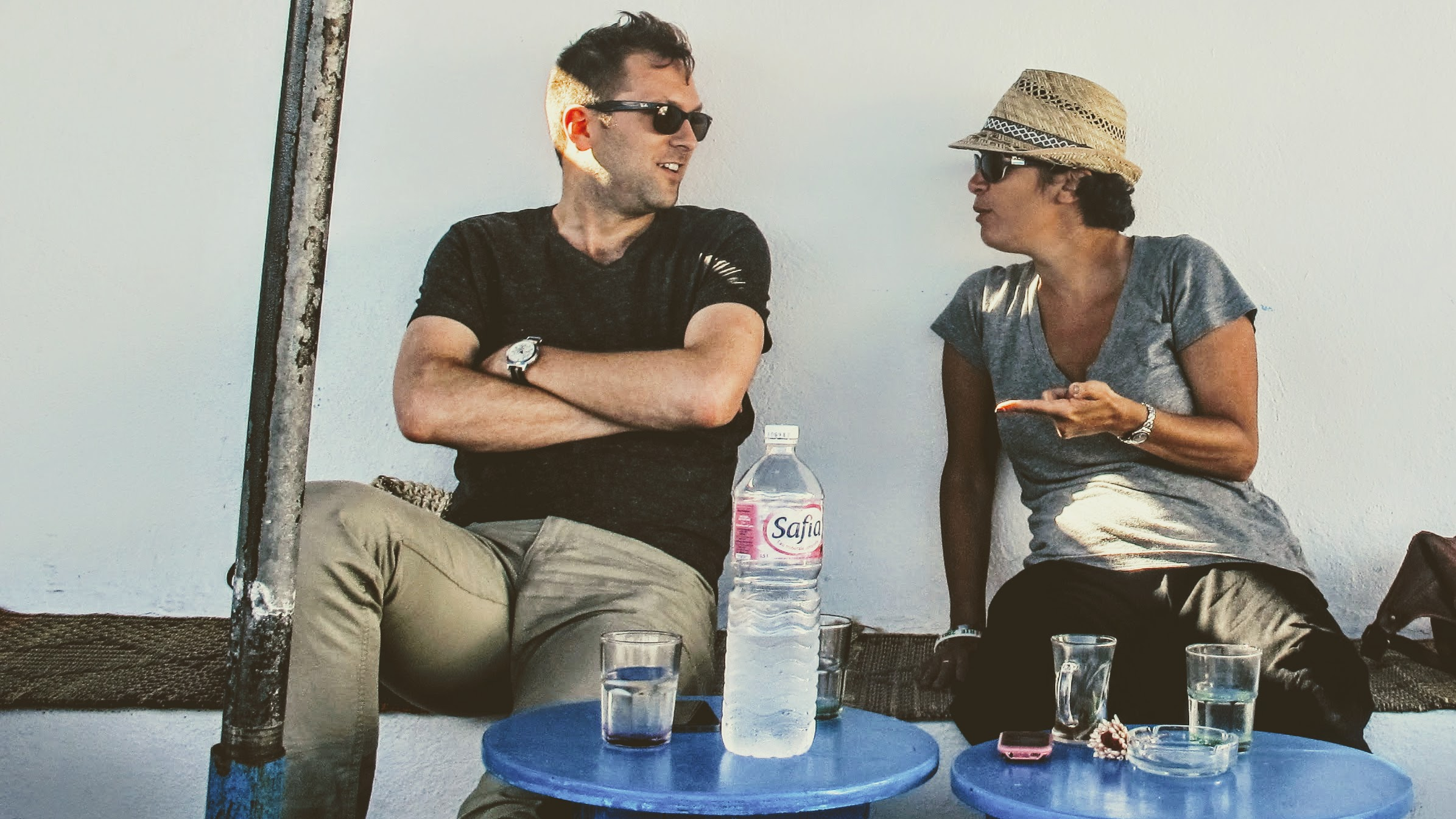Scott Ordway and Meryem Belkaïd in Tunis, July 2014.
