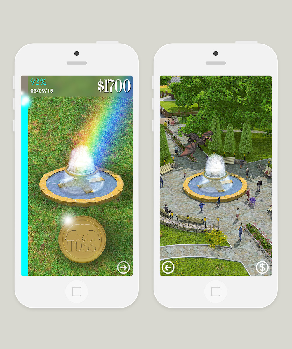 As time progresses, and your account starts to grow, that little wishing well becomes so much more. The visuals become more splendid and fun, encouraging the user to continue depositing until the goal has been reached.