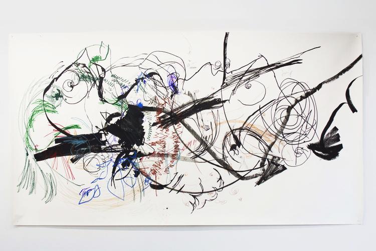 Lia Chavez, Carceri 1 , mixed media on paper, 2013