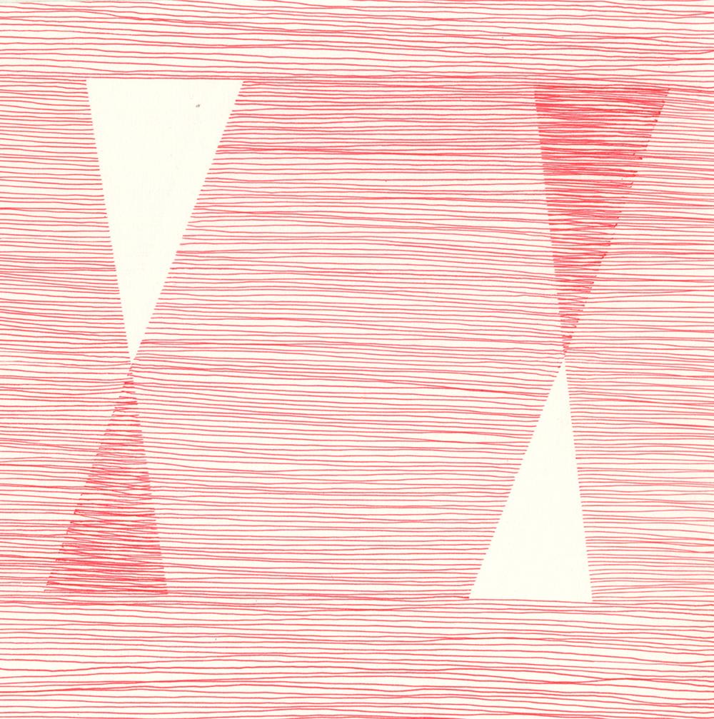 Sam Fryer, Untitled , ink on paper, 2013