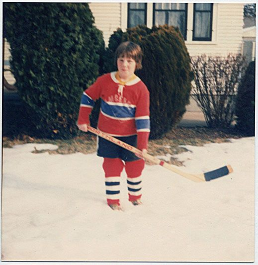 Way back when (first year in hockey, circa 1976)