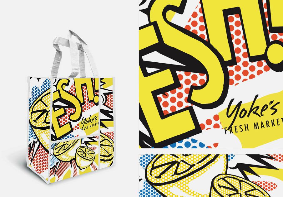 Yoke's Fresh Market tote bag design