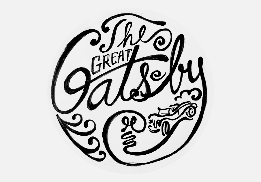 Sketch for a Great Gatsby themed auction for Washington Ceasefire