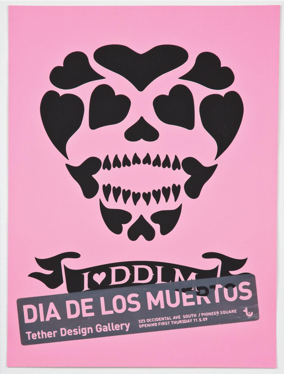 Dia de los muertos poster for Tether Design Gallery