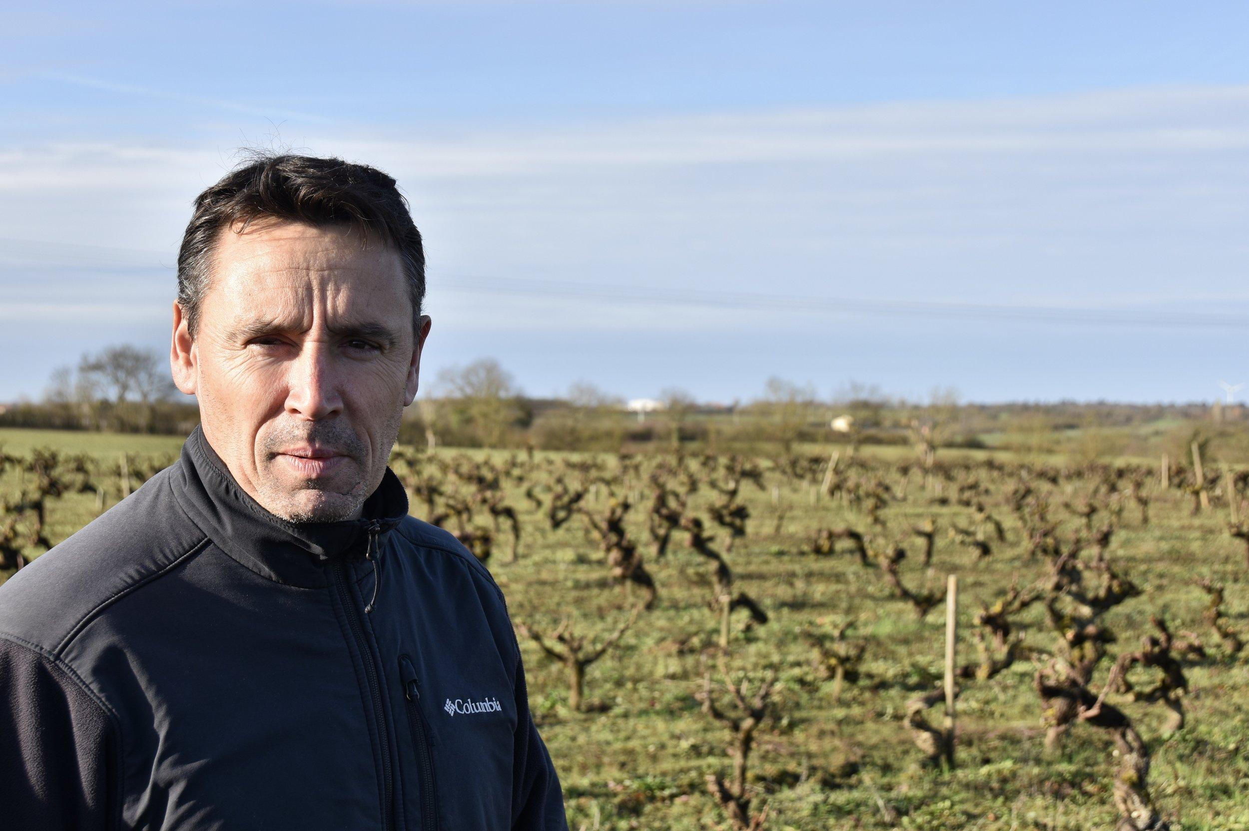 Stéphane Bernaudeau standing in front of Les Nourrissons
