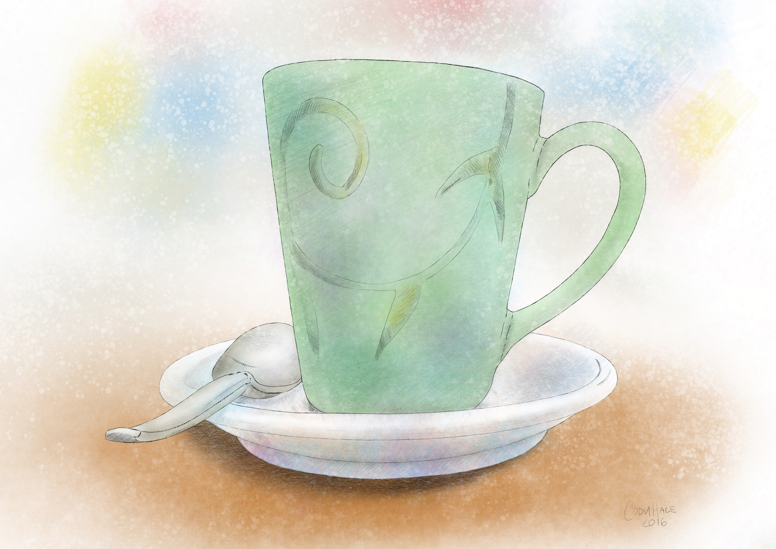 Illustration of coffe mug from Carpe Cafe