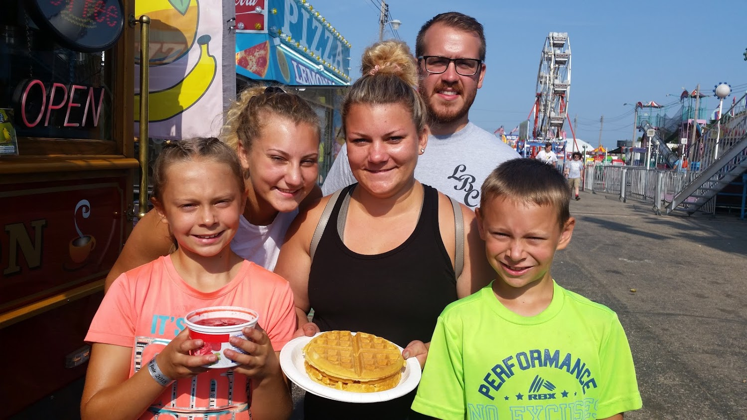 The UP State Fair…We love our customers! Especially when they treat us to Grandma's waffles!