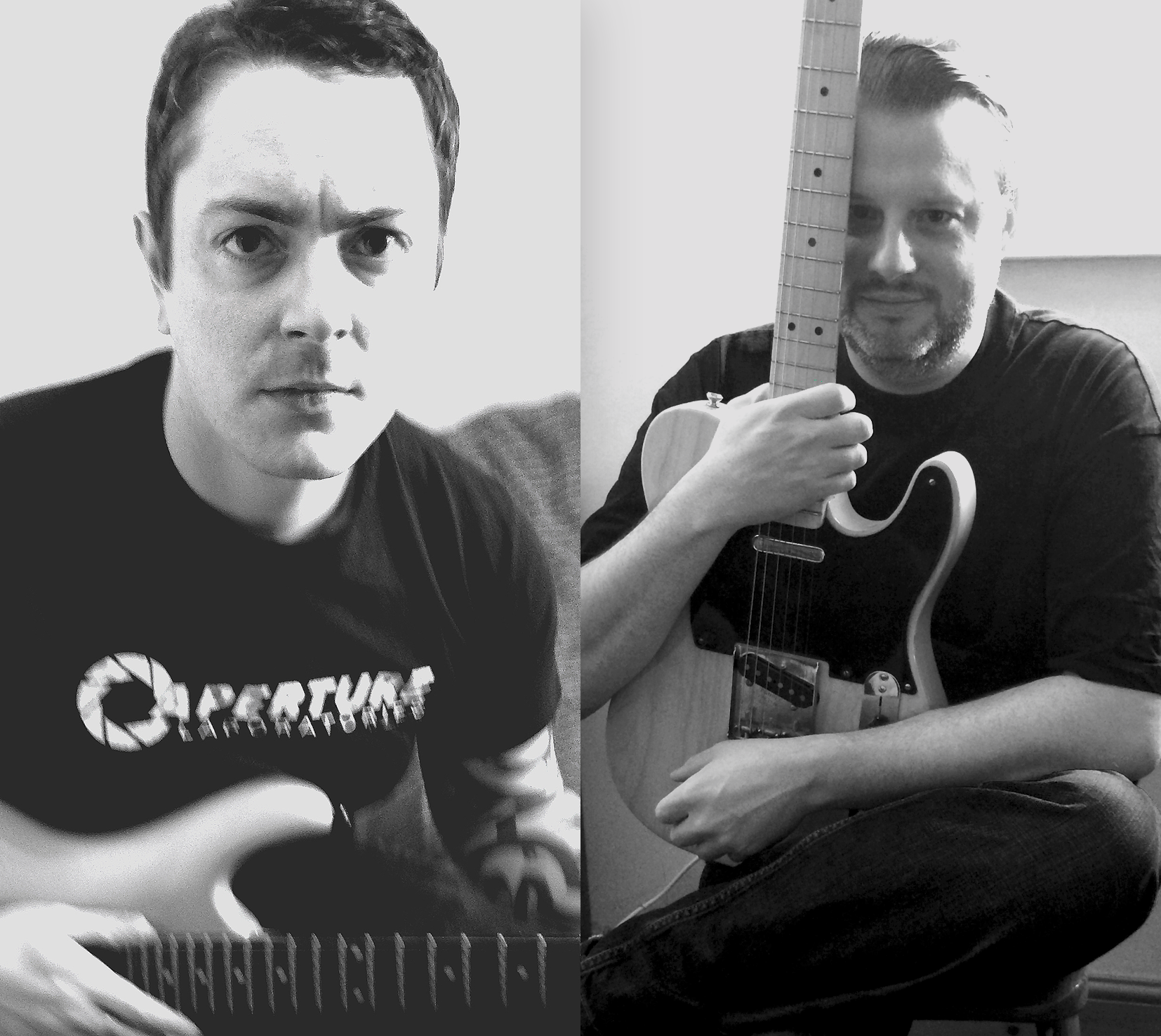 Left - Gary (vocals and guitar)  Right - Pete (guitar, bass, keyboards and drums)