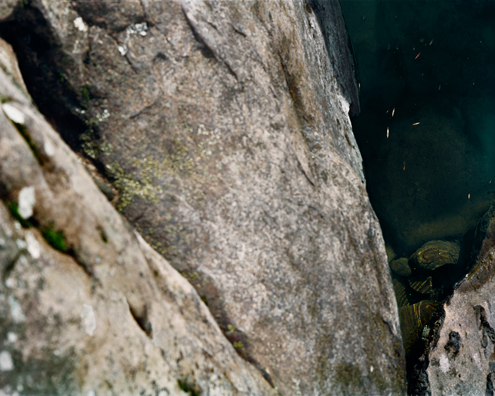 Thank G-d for Mississippi:  Sliding Rock, WV  , 2009   FujiFlex Digital C-Print   55 x 44 Inches
