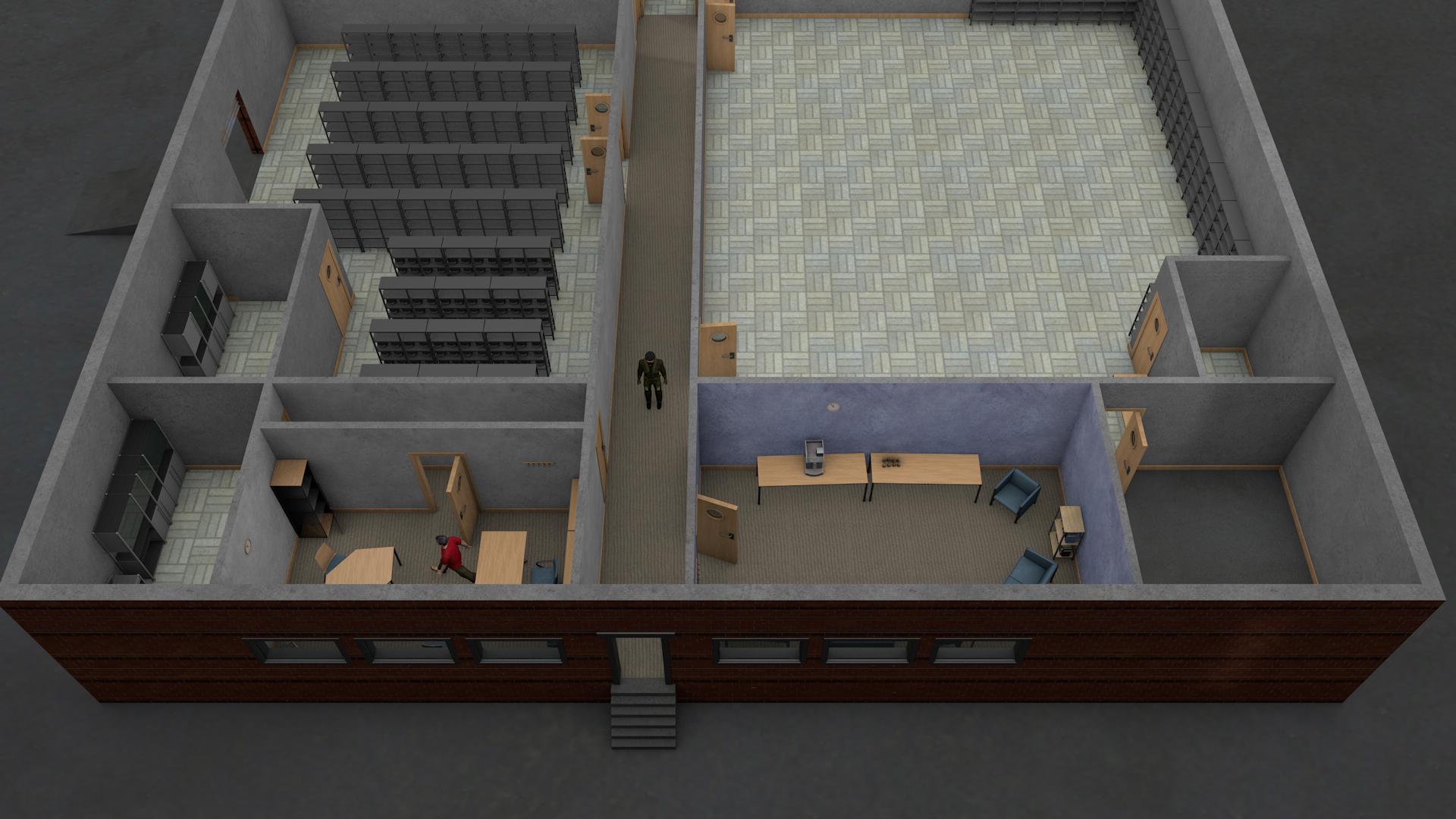 Servicing facility entrance