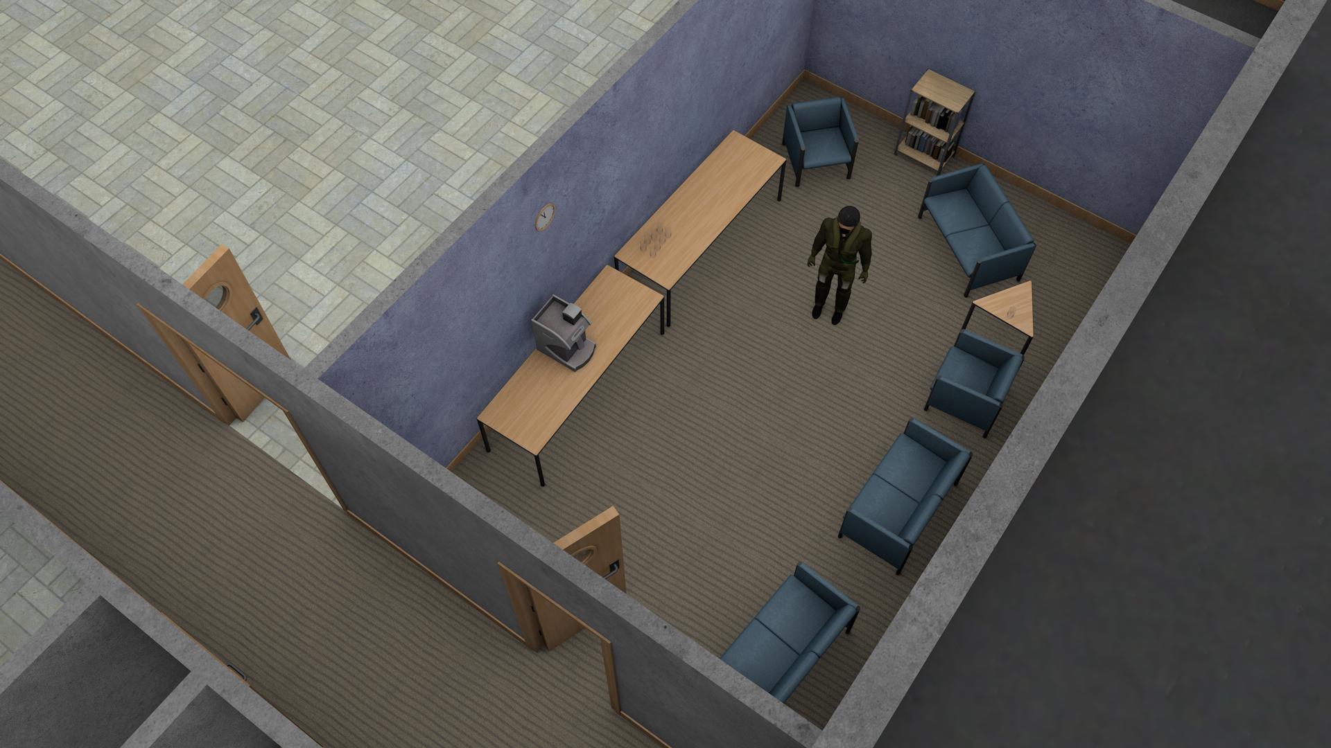 Pilot's break room