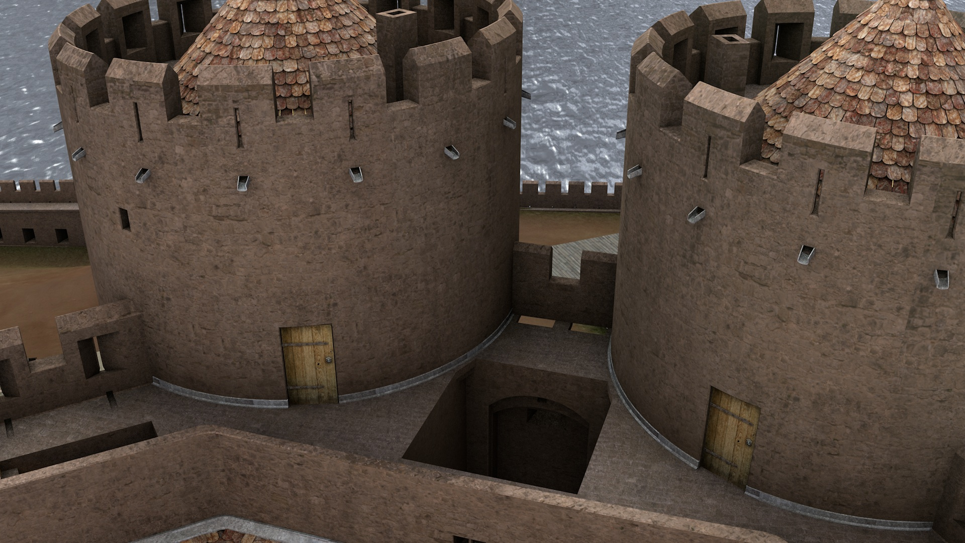 Testing out weathered door textures for the Inner Ward of Rhuddlan Castle