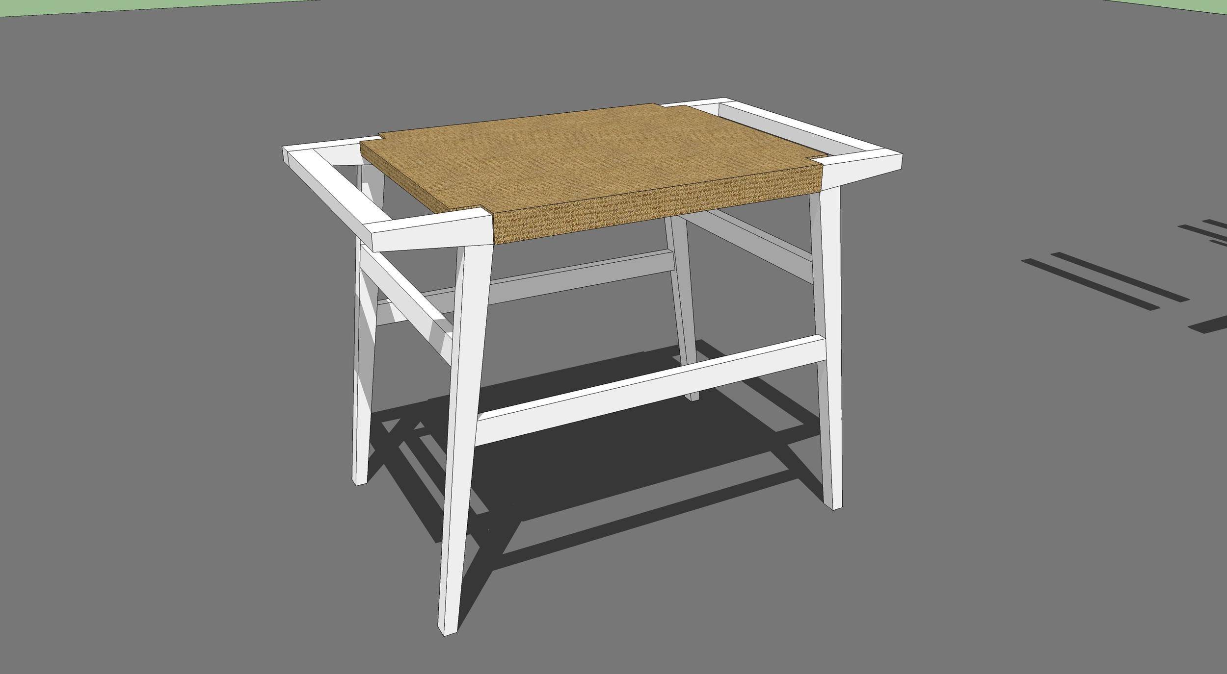 danish cord stool