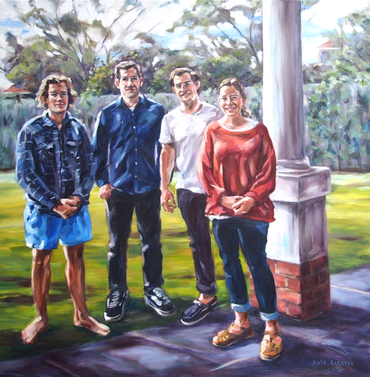 Young Adults    oil on canvas    76cmW x 76cmH