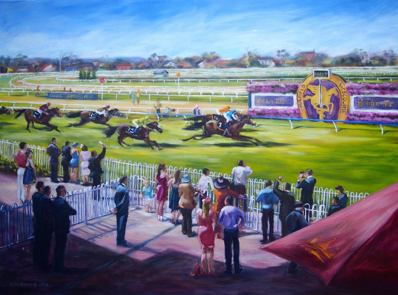 Day on the Heath    oil on canvas    120cmW x 90cmH