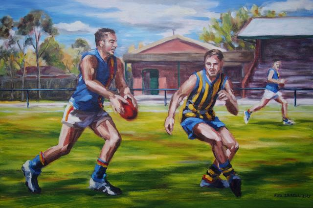 Tom at Caulfield  Oil on Canvas  2015