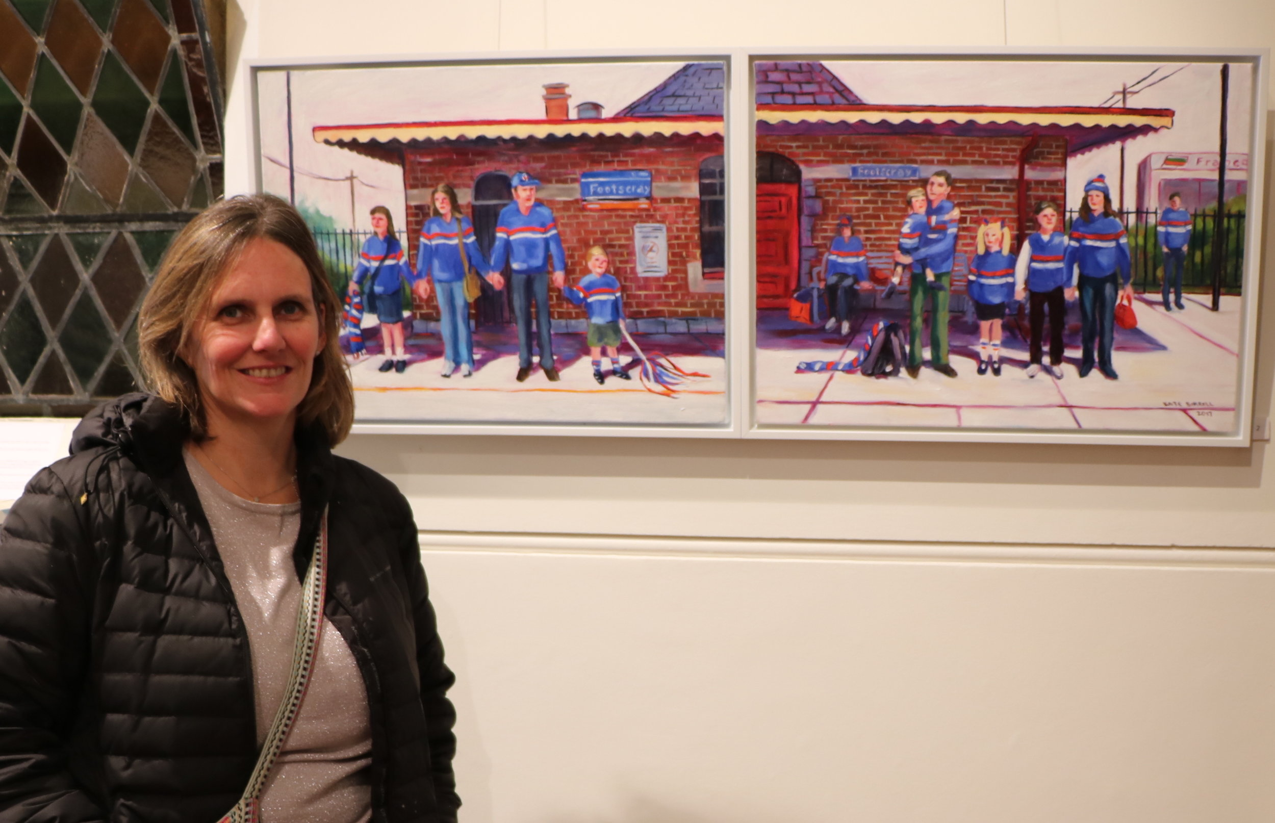 Kate and artwork.JPG
