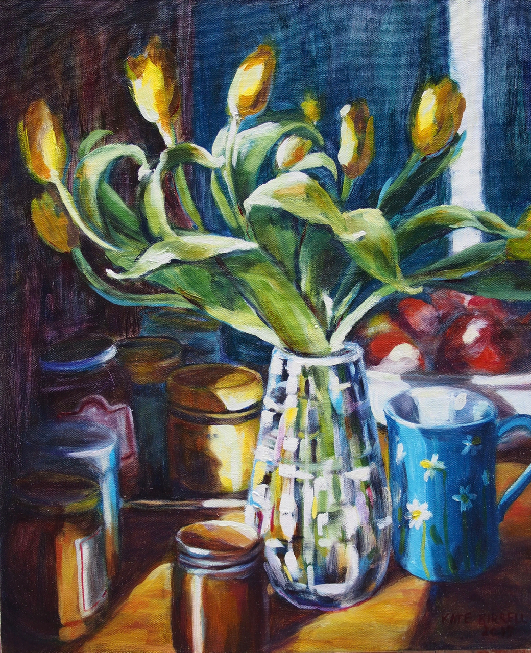 Tulips in the Wedgewood Vase, Blue Mug and Other Jars and Things