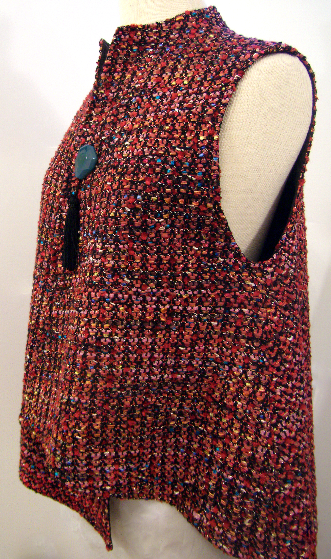 Handwoven Vest, Kathleen Weir-West, Business Clothing 2.JPG