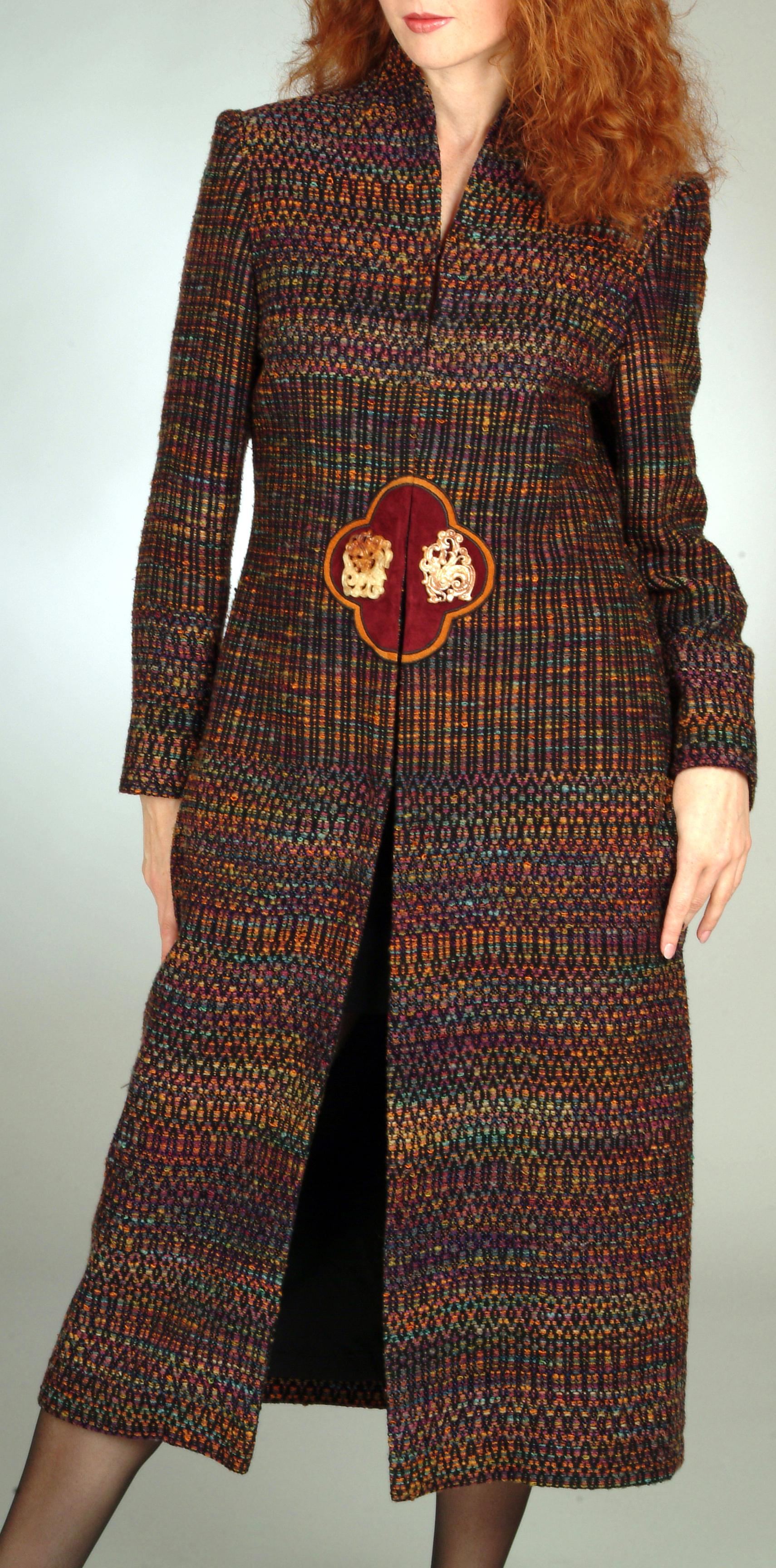 Handwoven Coat, Business Apparel, Kathleen Weir-West 101