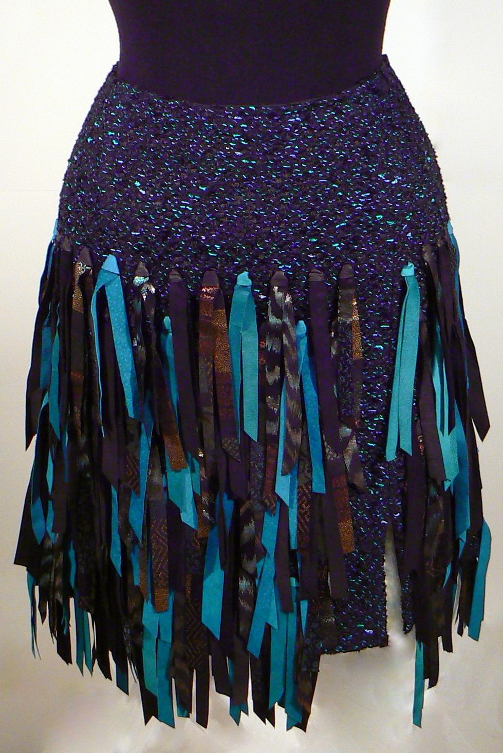 Handwoven Leather Skirt K Weir-West.JPG
