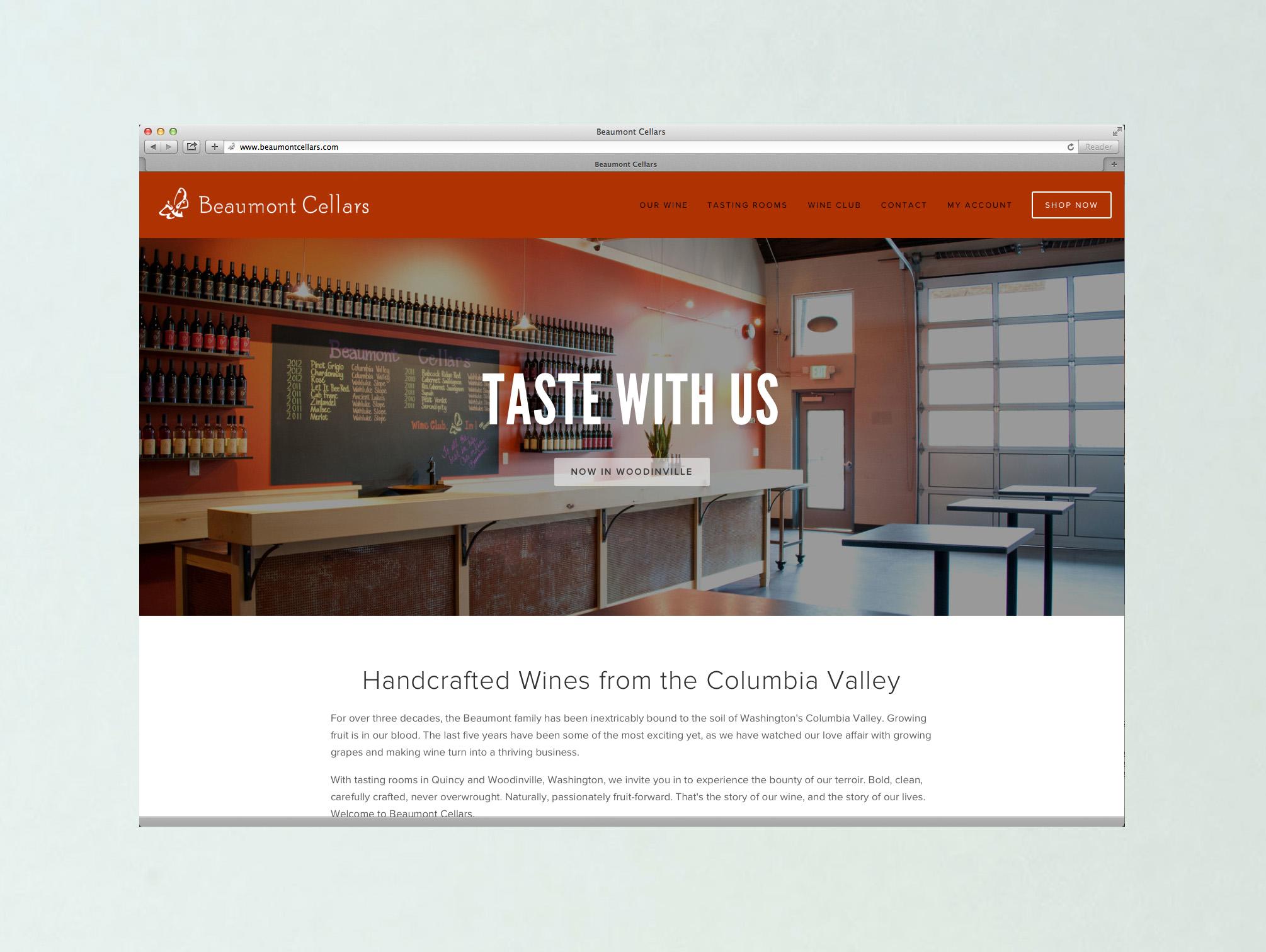 Branding, site design, content development and copywriting —    beaumontcellars.com