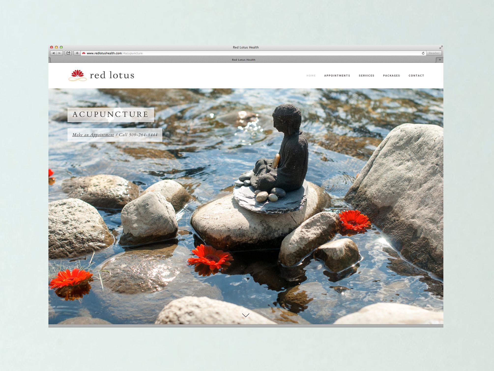 Branding, site design, content development and copywriting/editing —    redlotushealth.com