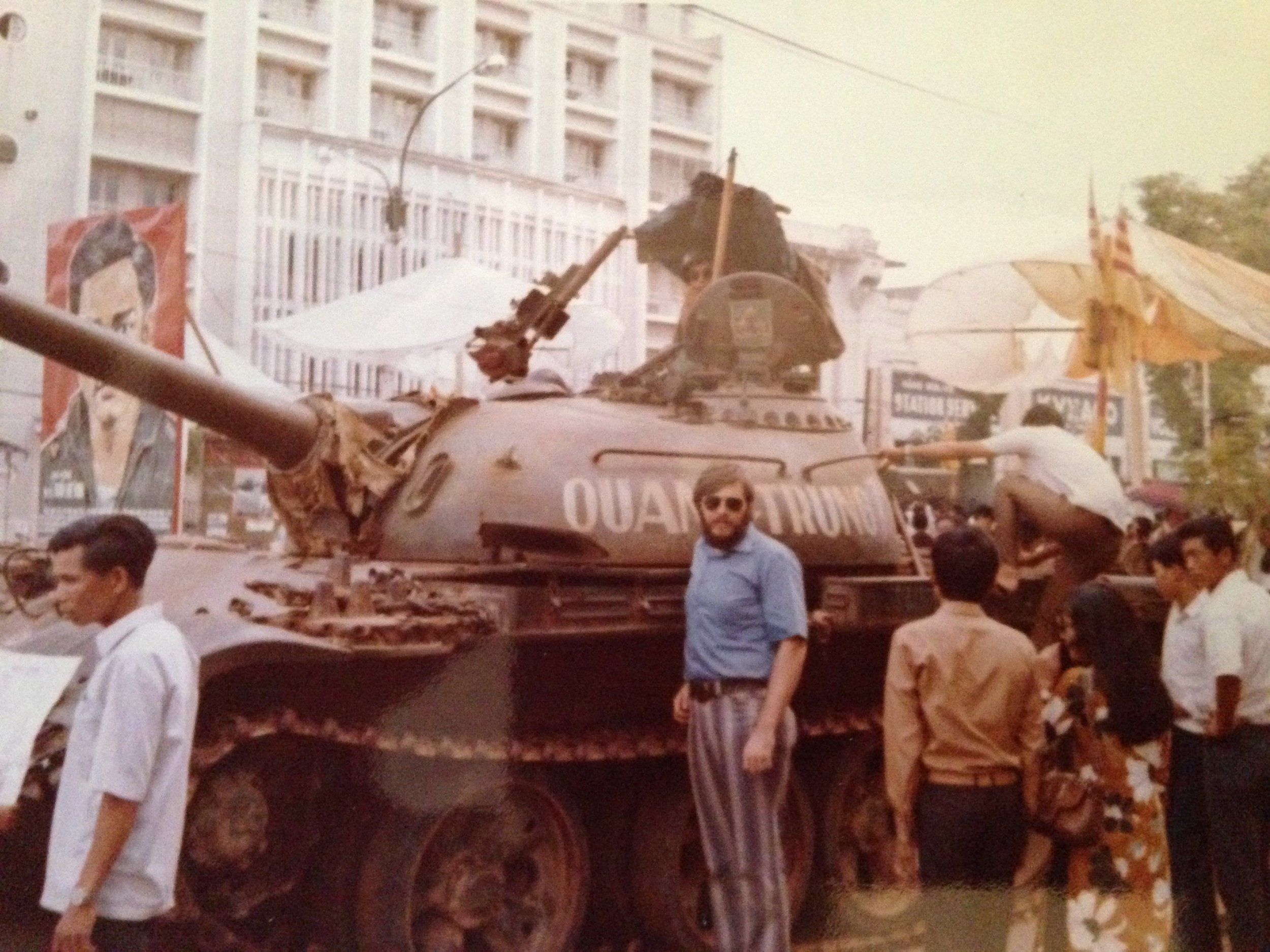 VN Me with NVA tank in Saigon.JPG