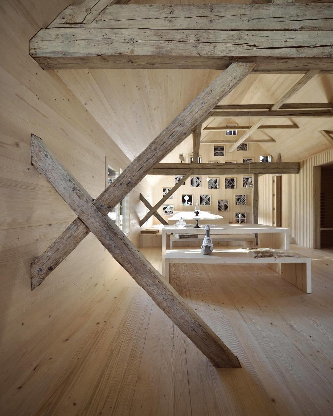 Alpine Barn apartment in Bohinj, Slovenia. (Courtesy of OFIS)