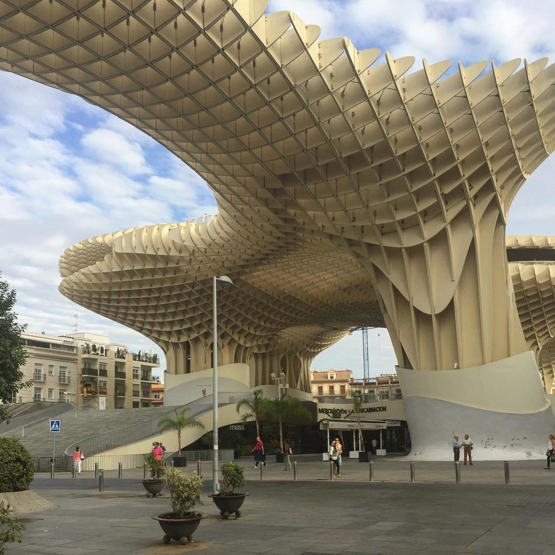 Sustainable plaza made out of plywood. (Courtesy of Steffen Welsch Architects)