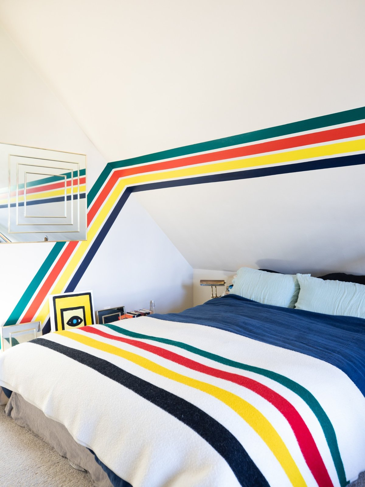 Windy's bedroom is teeming with her favorite Hudson Bay stripes. (Sothear Nuon)