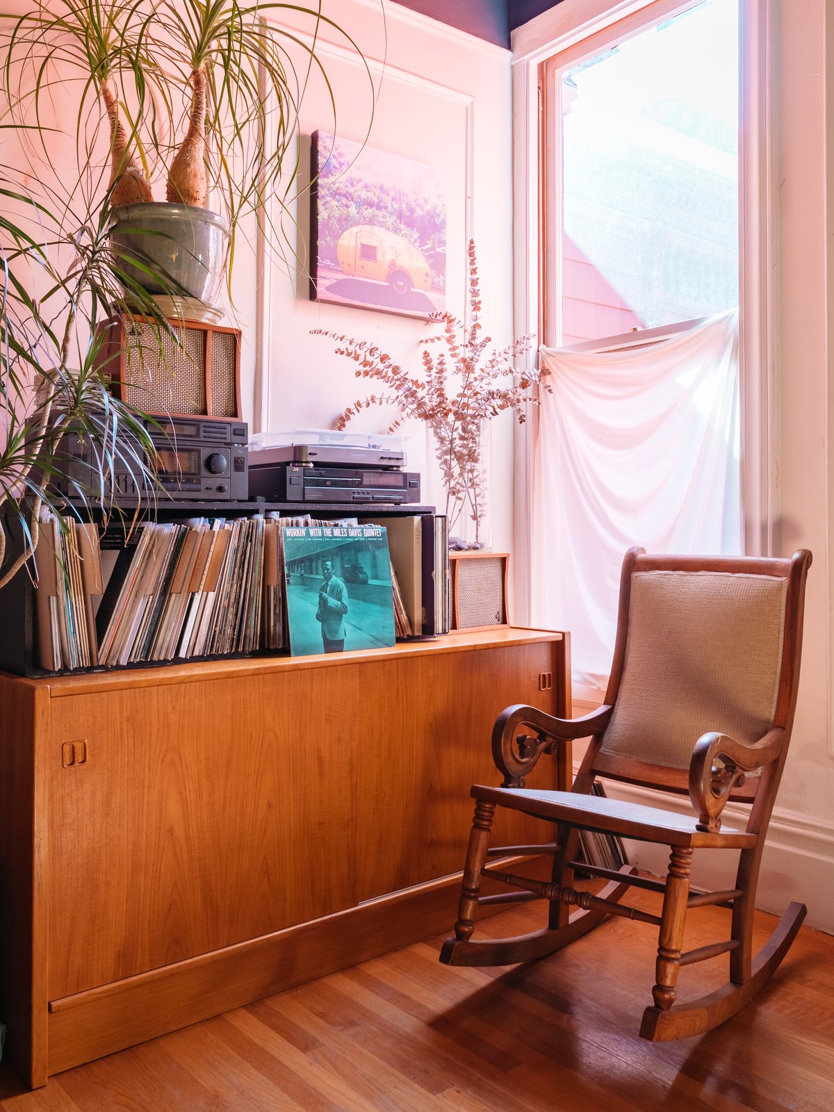 Windy's record collection recalls her days as the owner of Aquarius Records. (Sothear Nuon)