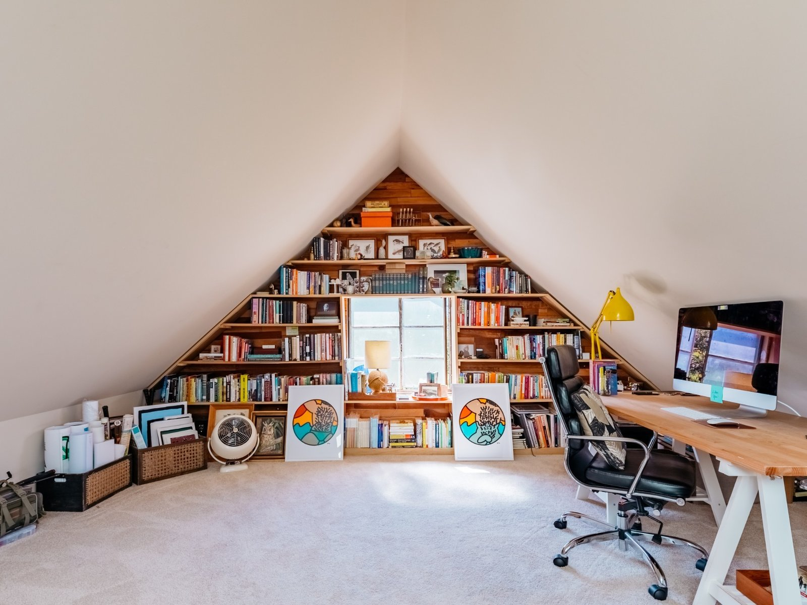 The upstairs attic serves as her boyfriend's office, where he often sits to write or exercise on his rowing machine. (Sothear Nuon)