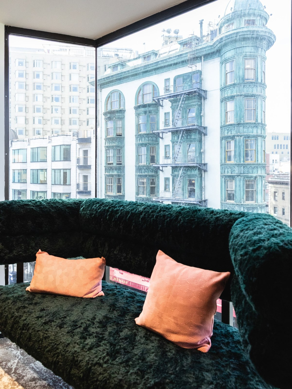 A comfy nook in the board room facing the Francis Coppola Sentinel building. (Sothear Nuon)