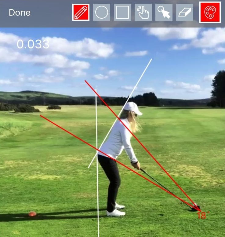 Corrected spine angle