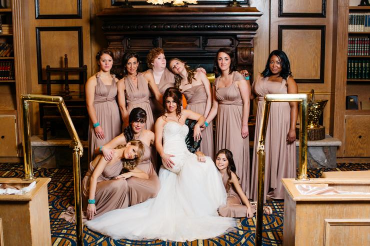 Formal Bridal Party Portrait