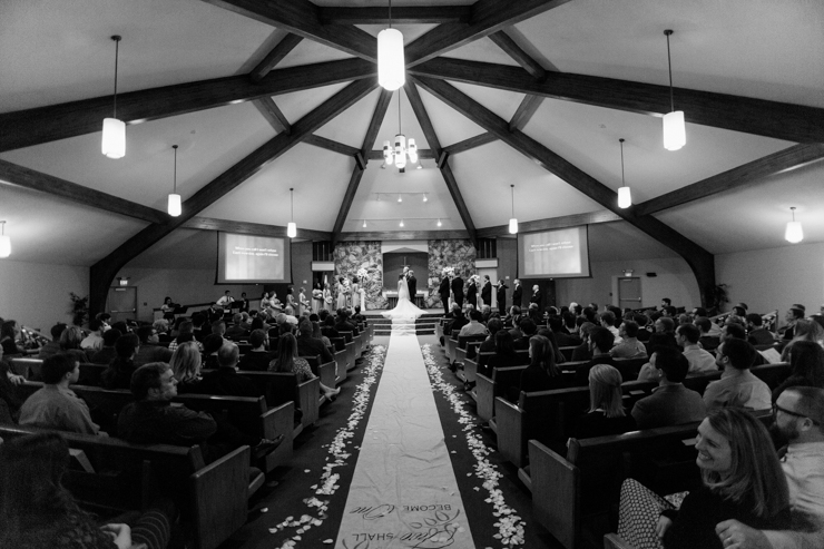 Ceremony at a church in Bloomington, Illinois