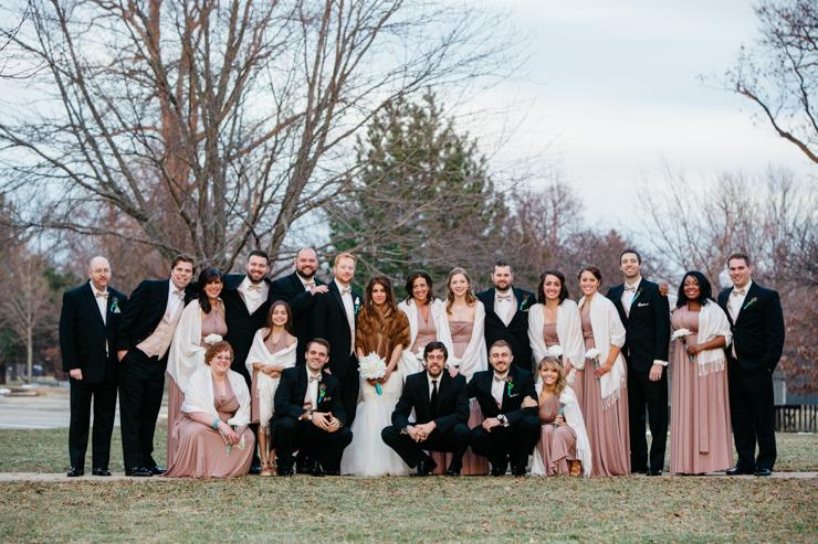 Bridal Party at dusk