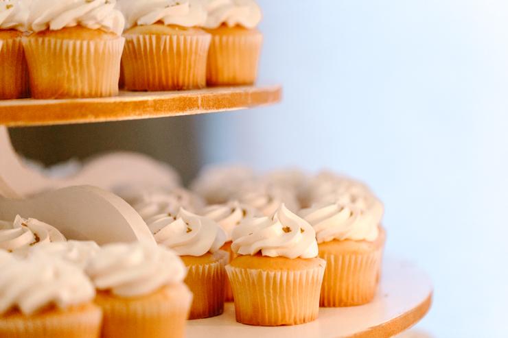 Cupcake Tower at Wedding Reception