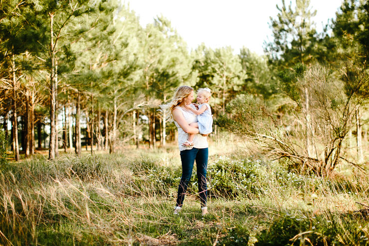 Mom and two year old baby