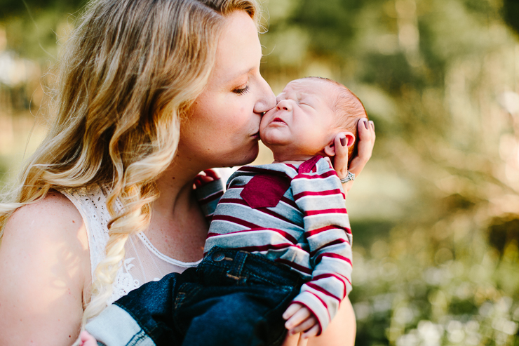 Mother and newborn son