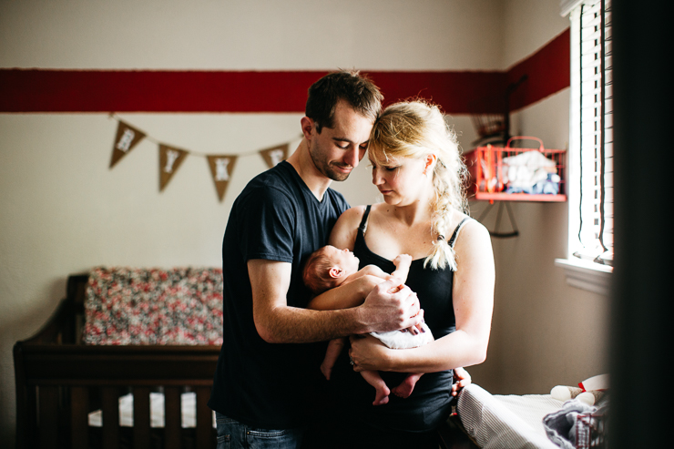 New parents with newborn son