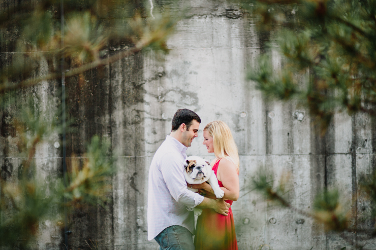 Engagement Photos with a Bulldog