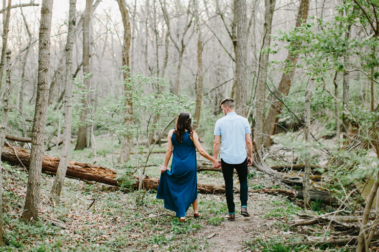 Boho Maternity Session in a creek