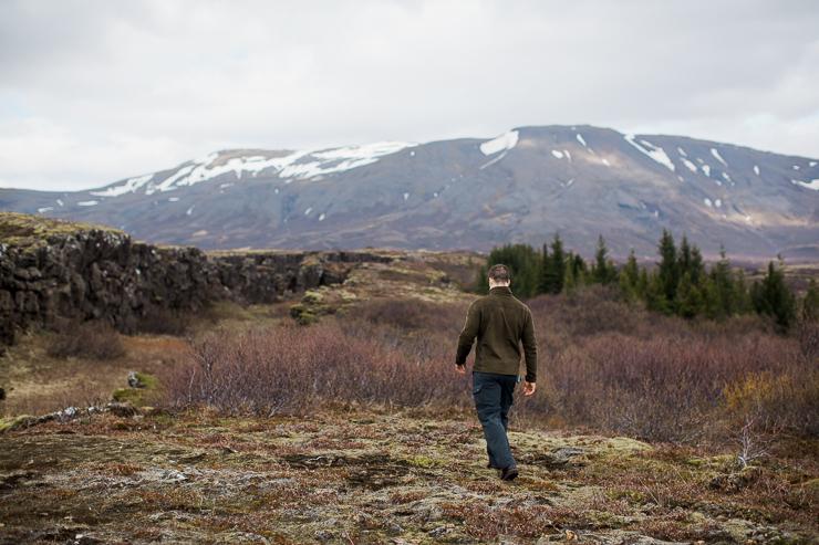 Hiking through Pingvellir National Park, Iceland