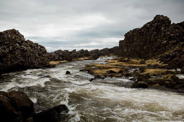 Oxararfoss Waterfall, Iceland