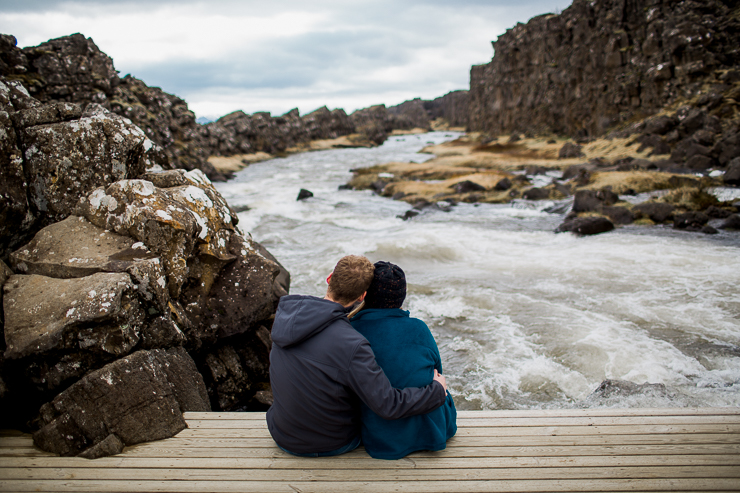 Married Couple Photography at Oxararfoss Waterfall, Iceland