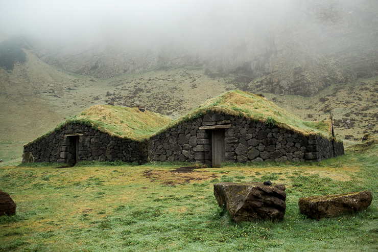 Turf farm houses, Westman Islands