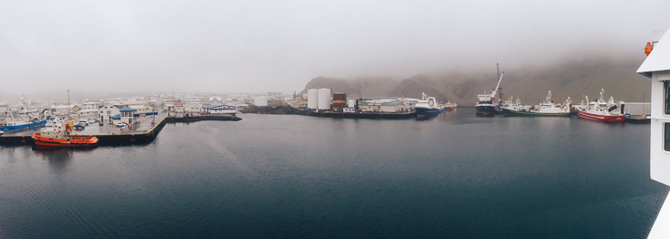 Ferryboat entering Marina Westman Islands